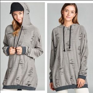 Distressed French Terry Hoodie